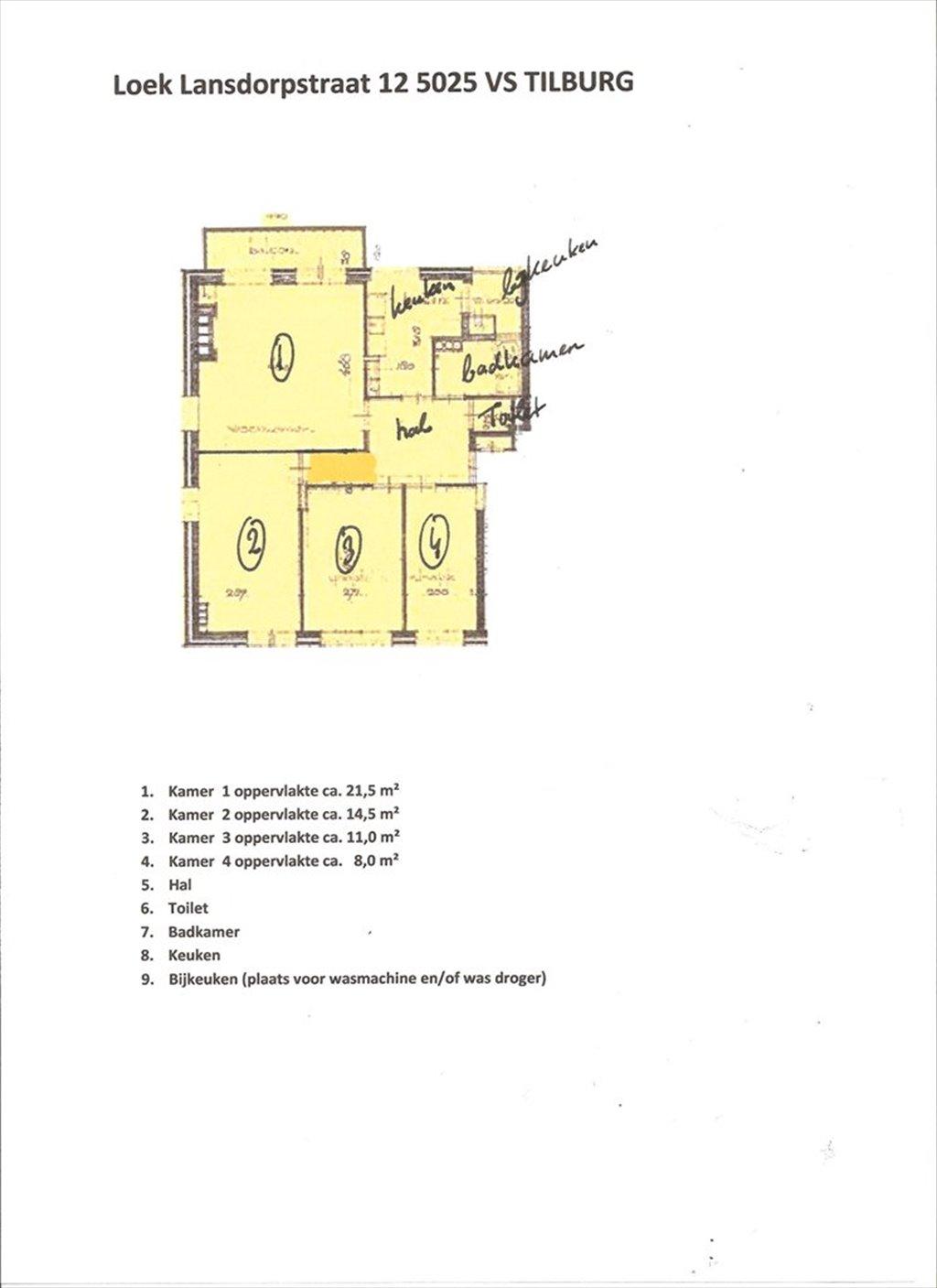 Kamers te huur in Loek Lansdorpstraat, Oud-Zuid Tilburg - Te huur ...